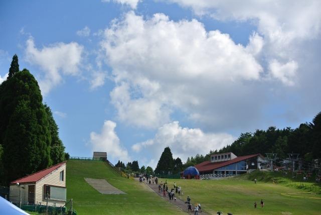 六甲山の夏の午後