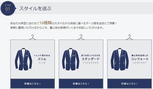 AOKIパーソナルオーダーメイドスーツのスタイル