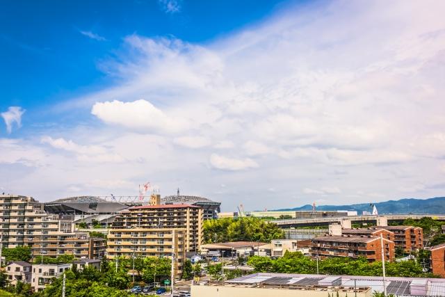 大阪の北摂・吹田の街並み