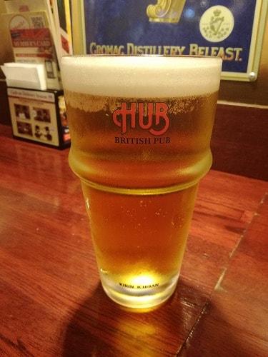英国風パブHUBのビール