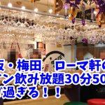 ワイン飲み放題30分500円!大阪・梅田「ローマ軒」でオシャレにちょい飲みや!