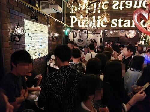 イベントで盛り上がるパブリックスタンド阪急東通り店