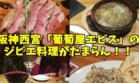 阪神西宮の葡萄屋エビスを食レポレビュー