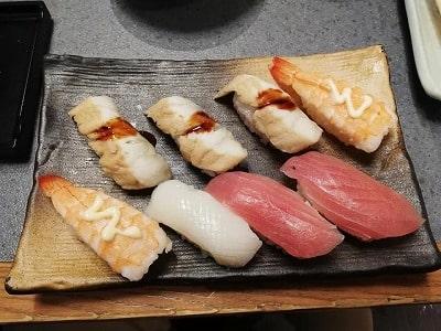 かごの屋のご馳しゃぶの寿司