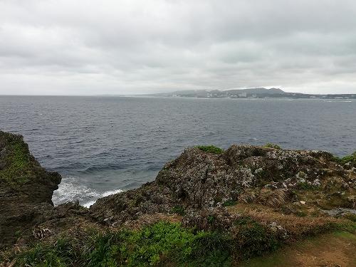 真栄田岬から見た海