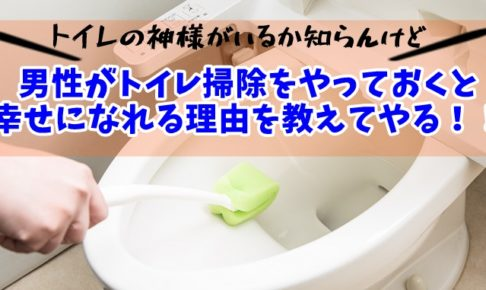幸せをつかみたいなら男性もトイレ掃除やるべき!