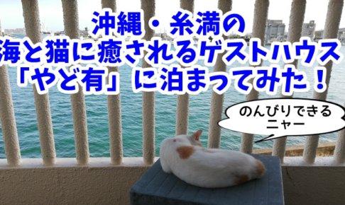 【沖縄・糸満】海と猫に癒されるゲストハウス「やど有」に泊まってきた!